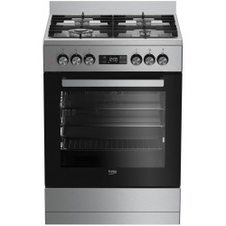 STOVE Dual fuel 60cm Up Right Cooker 4B S/Steel BFC60GM BEKO