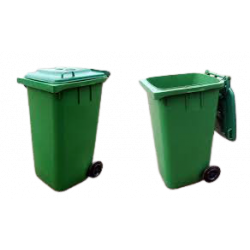 BIN Rubbish 240L Green/Blue with Wheels